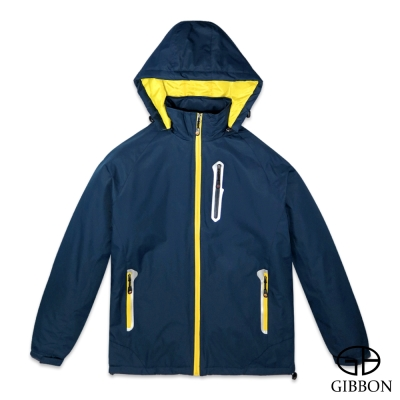 GIBBON 防潑水防風反光條機能外套‧藏青