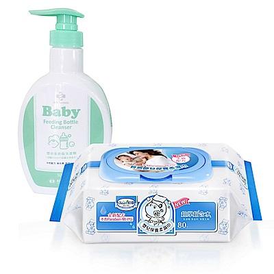 貝恩-NEW嬰兒保養柔濕巾-箱-台塑生醫-嬰幼童奶