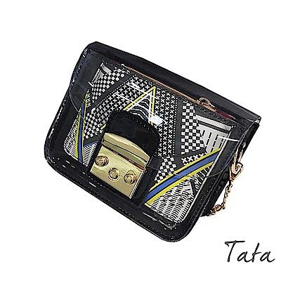 鏈條透明單肩包(附零錢包) TATA