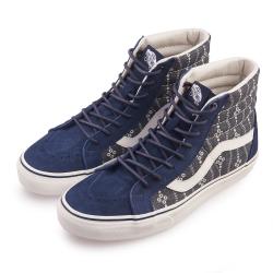 (男)VANS SK8-Hi 拼接圖騰高筒休閒鞋*藍色