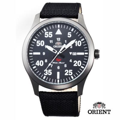 ORIENT 東方錶 SP 系列 飛行運動石英錶-黑色/44mm