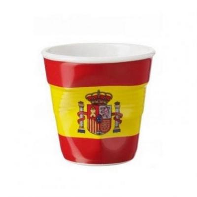 法國 REVOL FRO 西班牙國旗陶瓷皺折杯 80cc