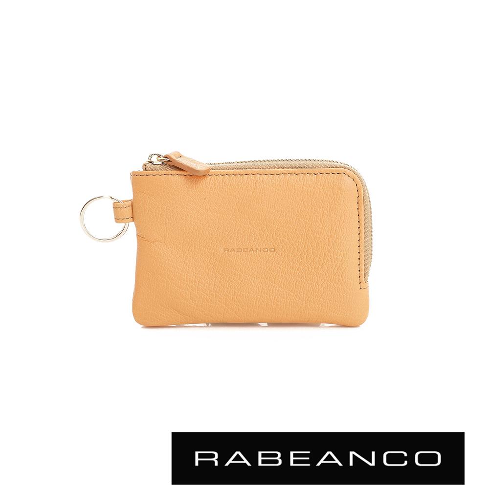RABEANCO 經典小羊皮萬用鑰匙零錢包 – 淡香橙