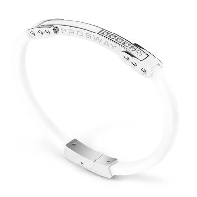 Brosway Ares 不鏽鋼橡皮手環 209mm 白色