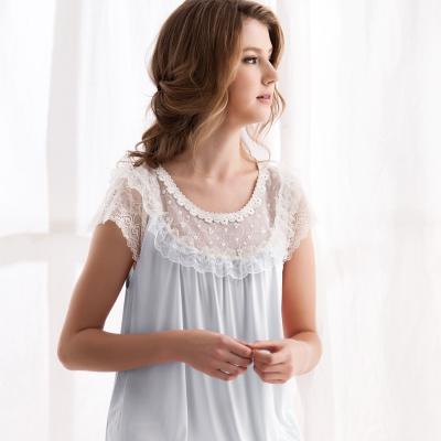 羅絲美睡衣 - 優雅公主短袖褲裝睡衣 (湖水藍)
