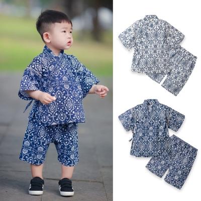 baby童衣 棉麻和風男童浴衣套裝 60157
