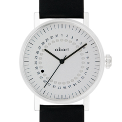 a.b.art OA系列 日期圓盤跳點機械腕錶-銀白/40.5mm