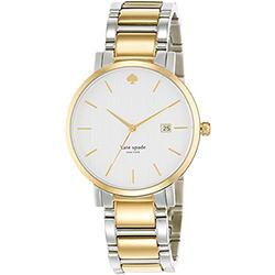 Kate Spade Gramercy 紐約甜心腕錶-銀x金/38mm