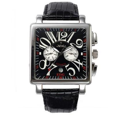 Jebely瑞士機械錶_萊茵河之戀系列_珍愛一世雙眼造型錶-黑/38mm