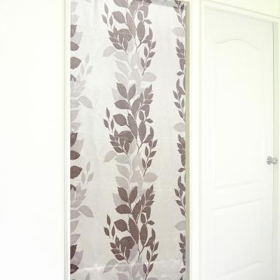 布安於室-繁葉亮面遮光風水簾-咖啡