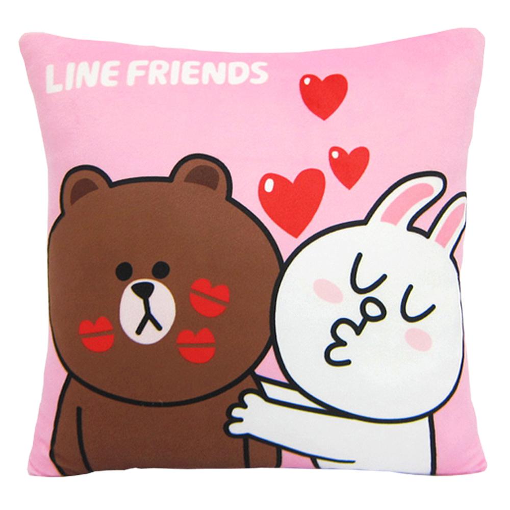 LINE FRIENDS KISS啾一下方枕