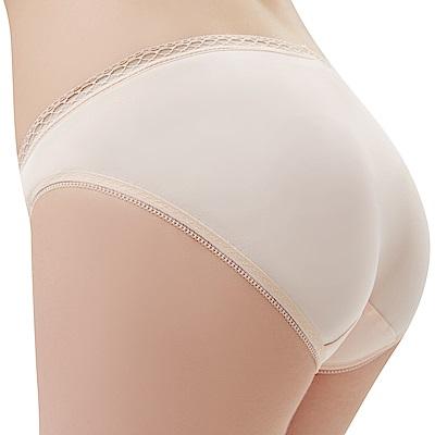思薇爾 Tour-Dry系列M-XXL素面低腰三角內褲(粉柑色)