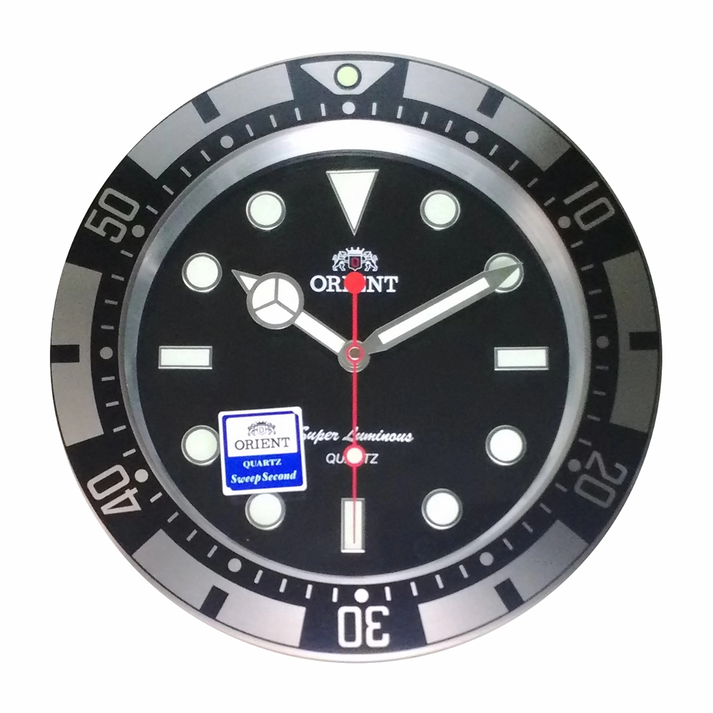 ORIENT 東方 豪式手錶面盤 數字夜光設計  時鐘 掛鐘-3.73cm
