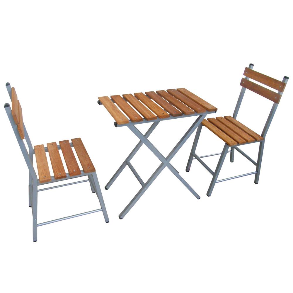 頂堅 [實心樟木]戶外餐桌椅組(一桌二椅)-台灣製造-DIY