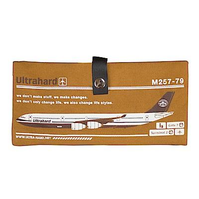 Ultrahard Traveler/Destn長版護照套-台北班機(土黃)