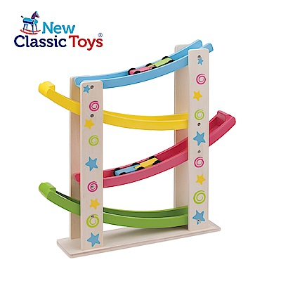 荷蘭New Classic Toys 寶寶木製玩具-汽車滑坡道 - 10540