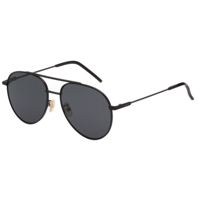 FENDI 帥氣雷朋款 太陽眼鏡 (黑色)FF0222FS