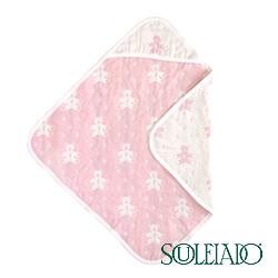 SOULEIADO 六層紗普羅旺斯熊包巾(粉紅)