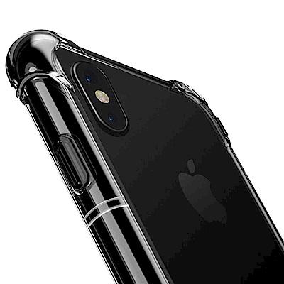 防摔專家 iPhoneX 雙材質TPU+PC強化抗震空壓手機殼(透明)