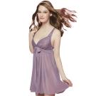 思薇爾 迷漾花園系列蕾絲性感連身小夜衣(迷漾紫)