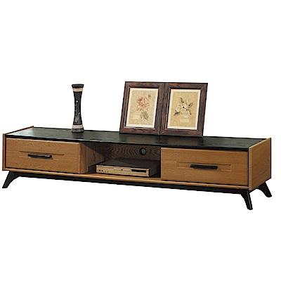 品家居 柏康斯6.7尺木紋雙色長櫃/電視櫃-200x40x42cm免組