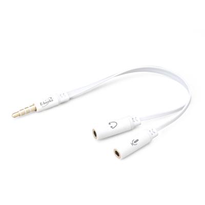 E-books X18一公轉二母耳機麥克風音源轉接線3.5mm-20cm