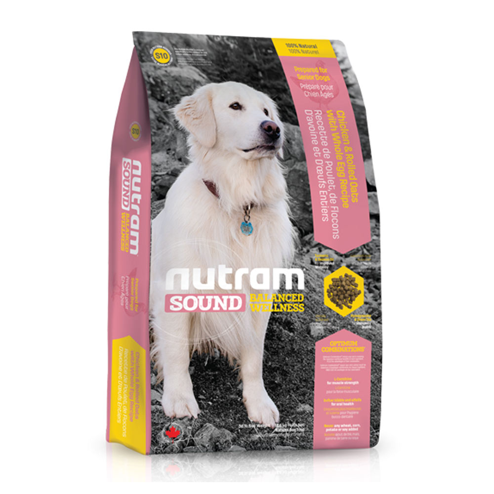 Nutram紐頓 均衡健康配方 - S10 老犬雞肉燕麥 2.72kg