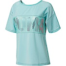 PUMA-女性訓練系列PUMA寬版短袖T恤-水漾青-歐規
