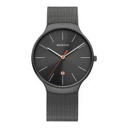 BERING丹麥精品手錶 簡約刻度米蘭帶系列 藍寶石鏡面 銀灰 38mm