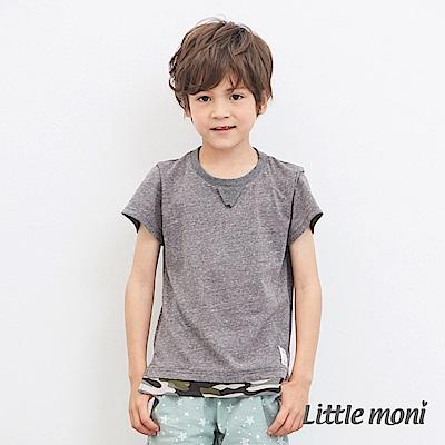Little moni 迷彩拼接上衣 (2色可選)