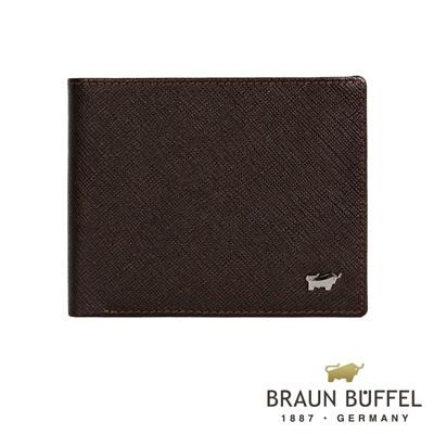 BRAUN BUFFEL - RUFINO-C洛非諾系列4卡零錢袋皮夾 - 咖啡