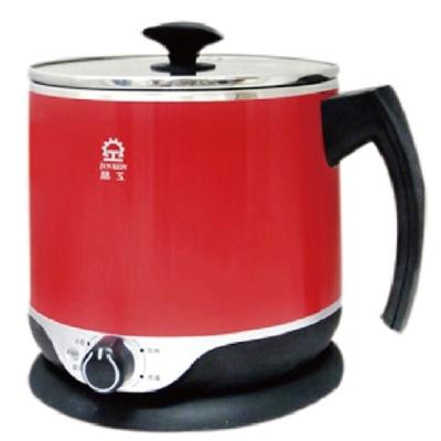 晶工牌2-2L大容量多功能料理鍋-紅-JK-201