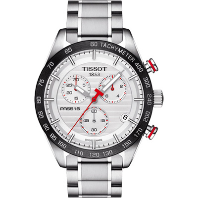 TISSOT PRS 516  三眼計時石英腕錶(T 1004171103100 )-銀/ 42 mm