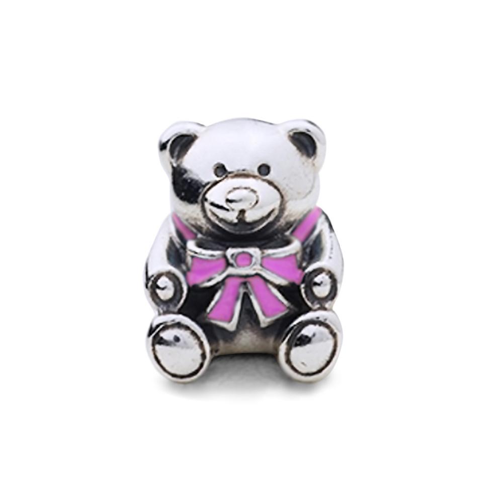 Pandora 潘朵拉 粉紅塘瓷泰迪熊