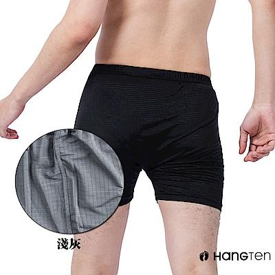 HANG TEN 冰絲格紋平口褲_深灰(HT-C12008)