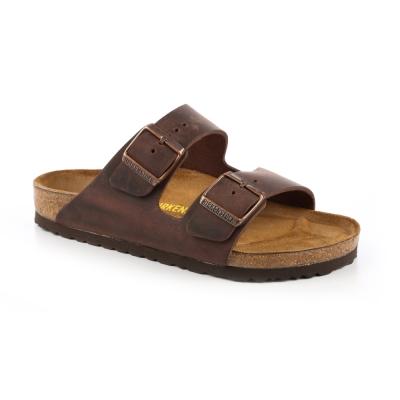 勃肯BIRKENSTOCK 052531。亞利桑那 經典二條拖鞋(深褐色)