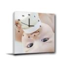 美學365-單聯客製化掛飾壁鐘時鐘畫框無框畫藝術掛畫-嬰兒-30x30cm