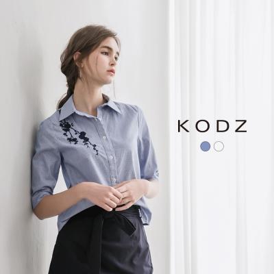 東京著衣-KODZ 歐美爆款刺繡設計襯衫-S.M.L(共二色)