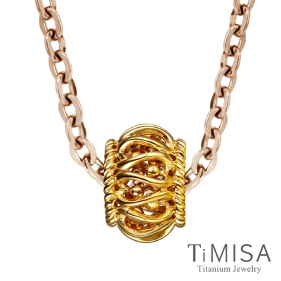 TiMISA 奢華 金 純鈦項鍊(雙色可選)