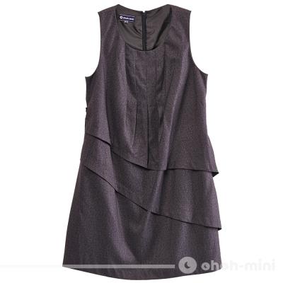 ohoh-mini孕婦裝-不對稱雙層裙襬孕婦背心洋