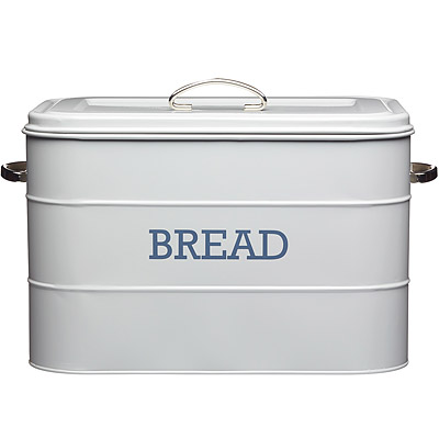KitchenCraft 復古麵包收納盒(灰)