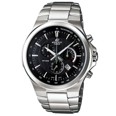 EDIFICE 完美都會情人星期逆跳計時腕錶(EFR-500D-1A)-黑/44.1mm