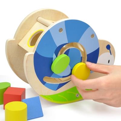 木製玩具 可愛小蝸牛形狀配對幾何組(18m+)
