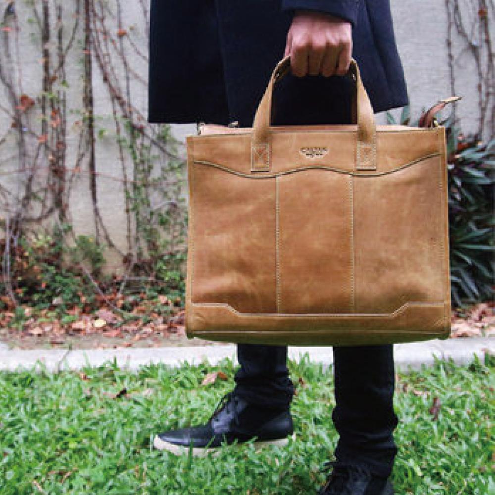 CALTAN -男用 公事包 手提 肩背 超大容量 俐落剪裁-5187ht