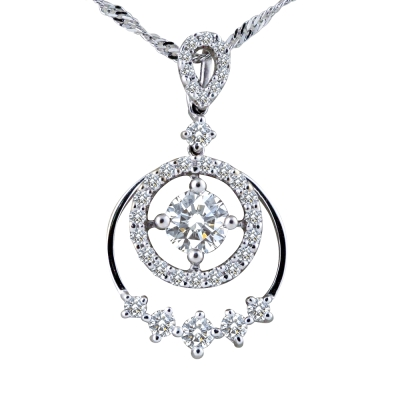 MANSTLYE 八心八箭0.30ct 美麗的饗宴鑽石墜子