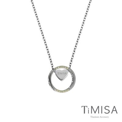 TiMISA《幸運心指輪》純鈦項鍊(E)-(雙色)