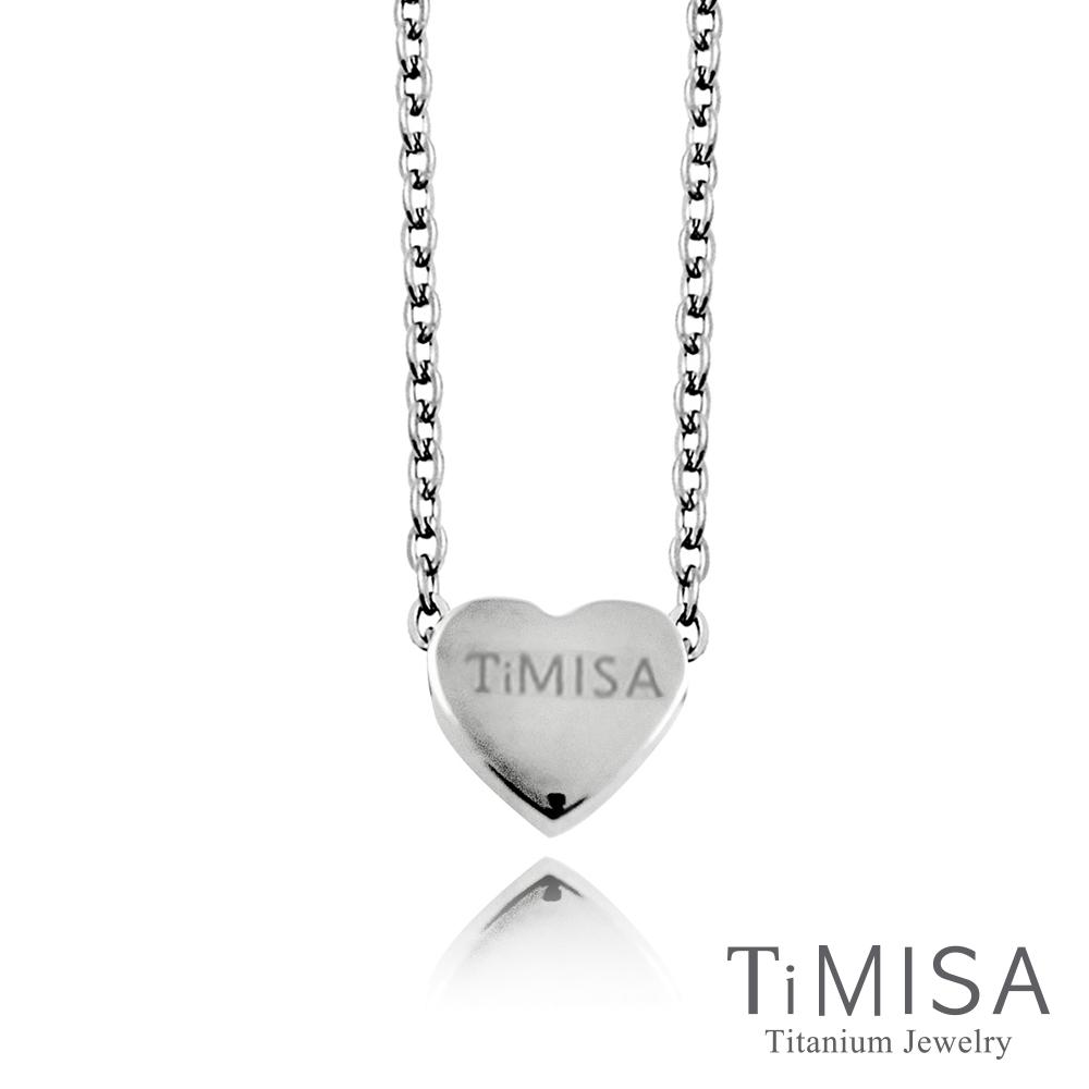 TiMISA 小愛心 純鈦(極細鎖骨)項鍊(B)