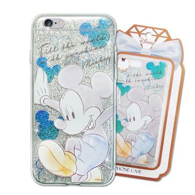 迪士尼 授權正版 iPhone 6s/6 4.7吋 閃粉雙料保護手機殼(米奇)