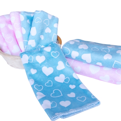 加厚超細超吸水棉柔印花小方巾6條+毛巾2條