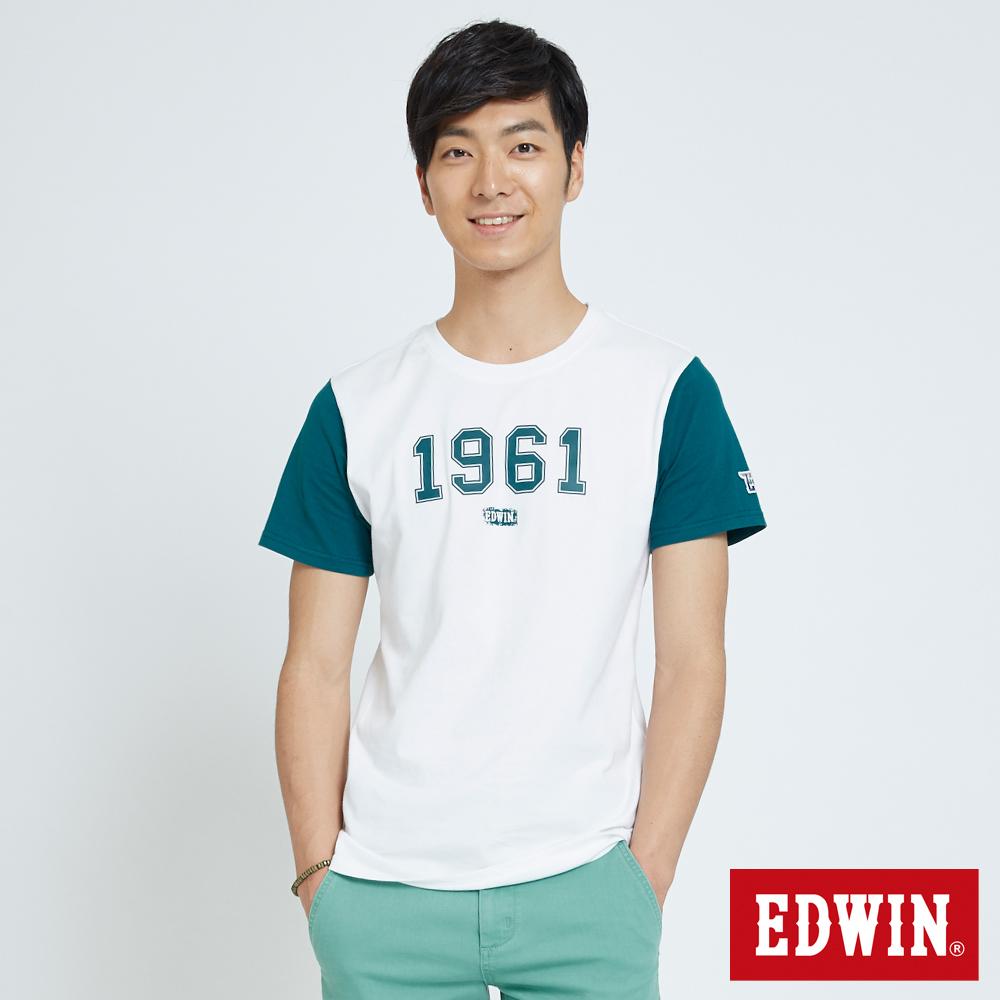 EDWIN 1961立體印花T恤-男-白色